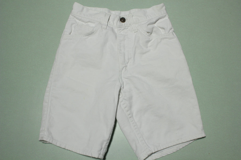 Levis Big E White Denim 60's Vintage #10 Stamp W24 Talon 42 Zipper Jean Shorts