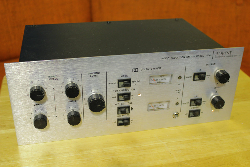 Advent 1972 Model 100A Silver Face Dolby  A B Noise Reduction Stereo Unit 70s
