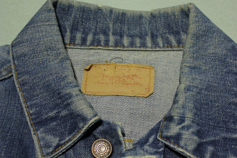 Levis Vintage Type III Late 1960's Big E 70505-0217 Jean Jacket Excellent Shape & Fade