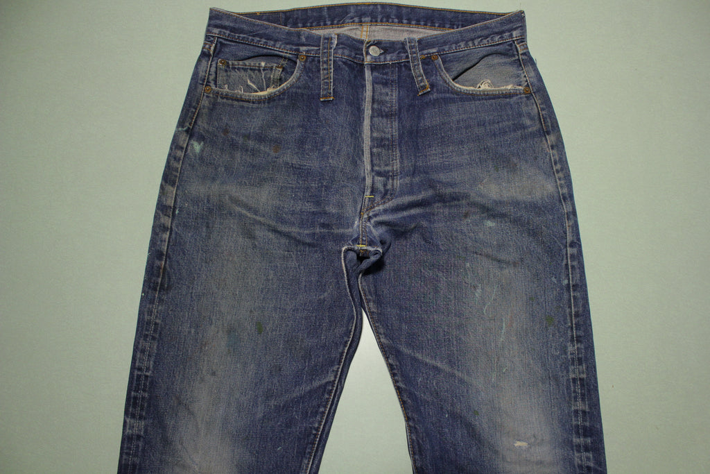 Levis 501 Big E 1967 60's Vintage Single Stitch #6 Selvedge Red Line Denim Jeans