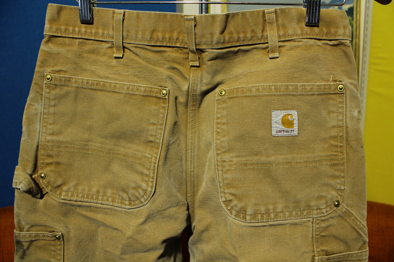 Carhartt B01 30x30  BRN Washed Duck Work Pants Heavily Distressed USA Made