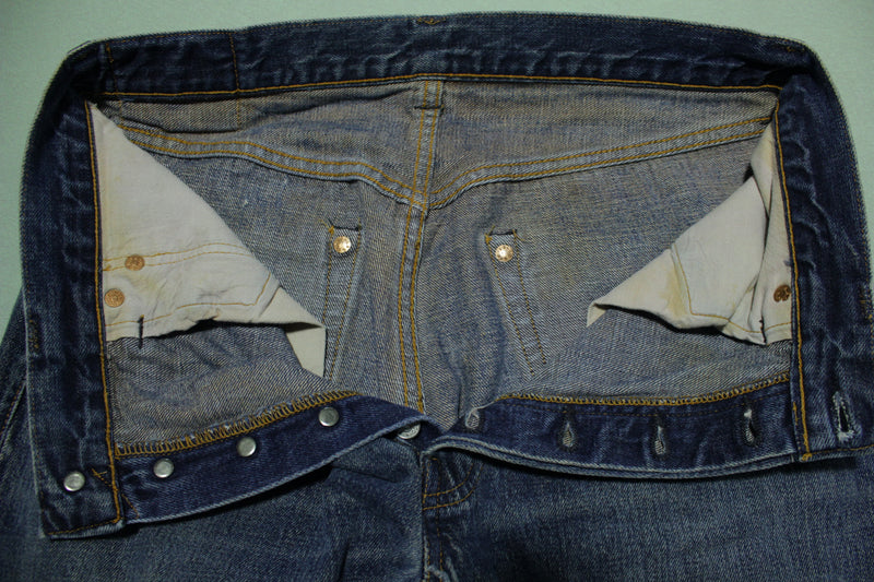 Levis Valencia Vintage Big E Hidden Rivet Selvedge Single Stitch 50's Re-Issue Jeans
