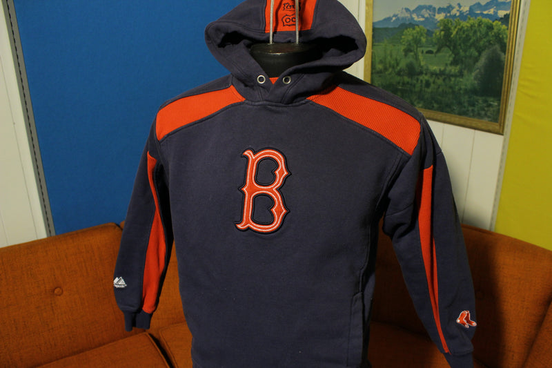 Boston Red Sox Vintage Majestic Logo Hoodie MLB Baseball Sweatshirt