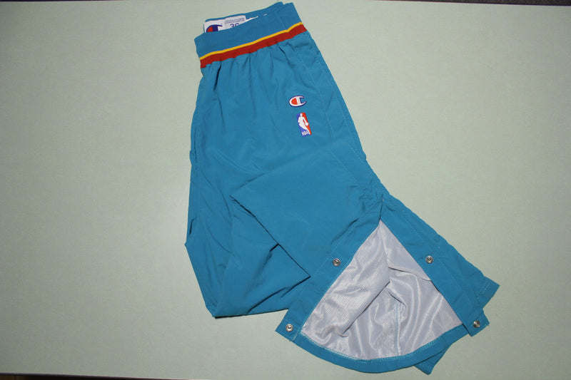 Detroit Pistons Vintage 90s Champion Team Game Issue 1996-97 NWOT Warm Up Pants