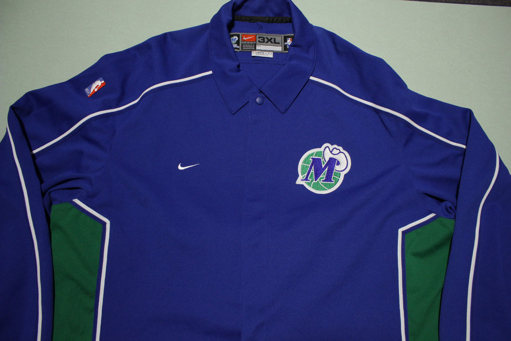 Dallas Mavericks Vintage 90s Nike Deadstock Team Game Issue USA Warm Up Jacket