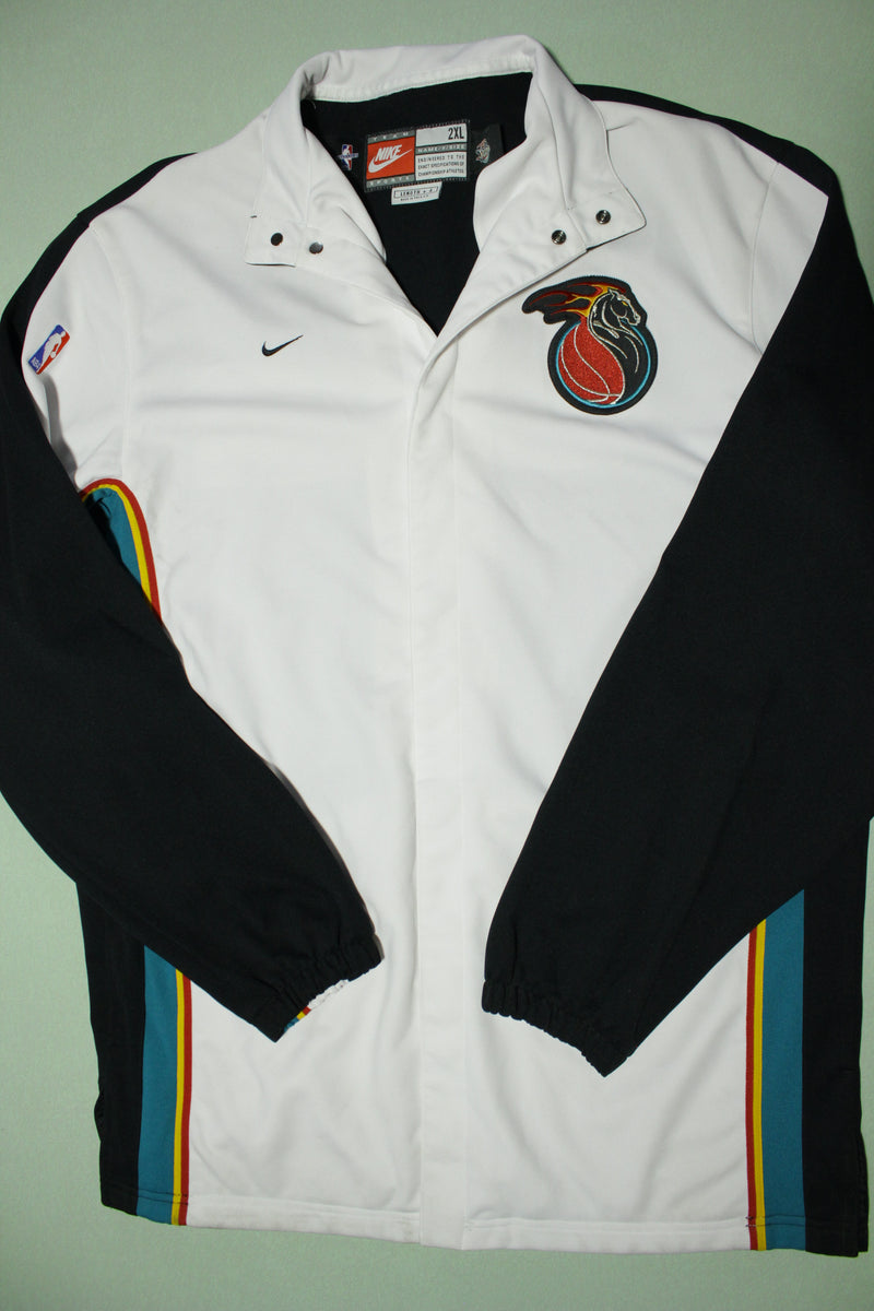 Detroit Pistons Vintage 90s Nike Deadstock Team Game Issue 1998-99 Warm Up Jacket