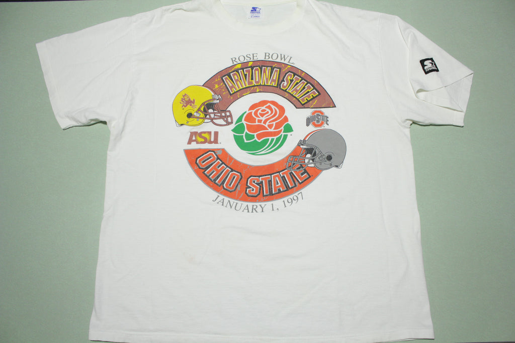 Rosebowl 1997 Vintage ASU Ohio State Vintage 90's Starter USA Single Stitch T-Shirt