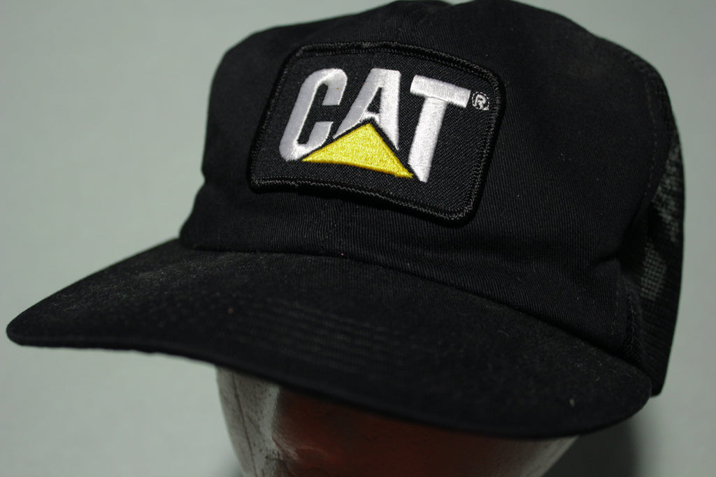 Cat Tonkin Made in USA 80's Vintage Snapback Trucker Cap Starter Hat