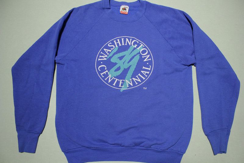 Washington State 100 Year Centennial 1989 Vintage 80s Crewneck Sweatshirt