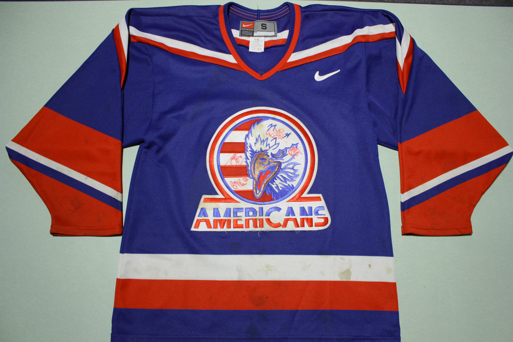 Tri-City Americans Vintage 90s Signed Autographed Hockey Jersey Team Nike