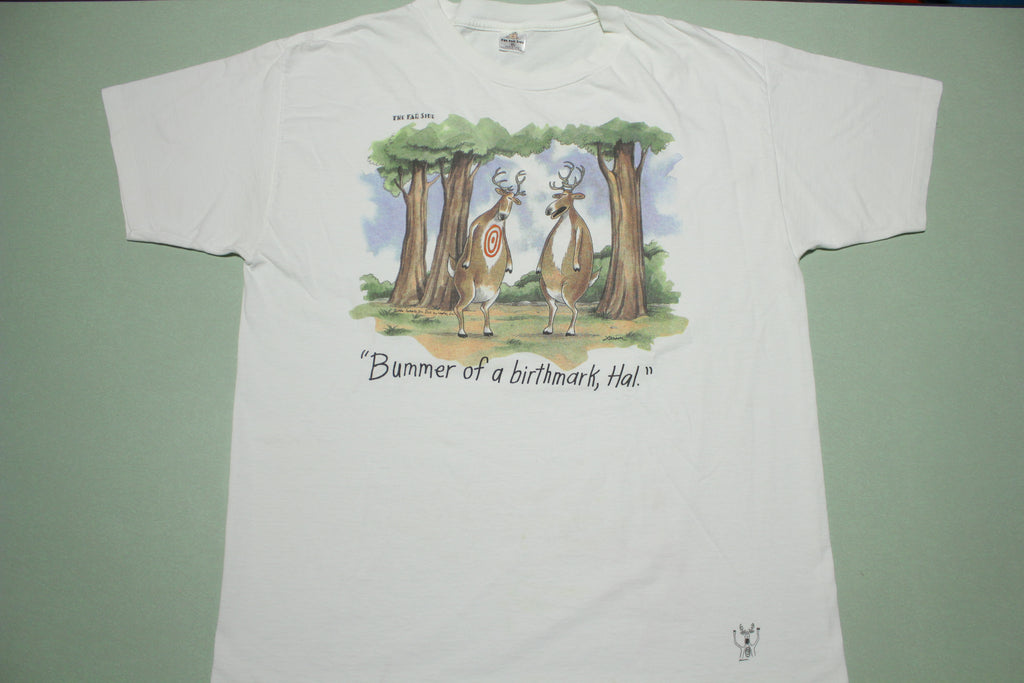 The Far Side 1986 Deer Bummer of a Birthmark Hal Vintage 80s Comic T-Shirt