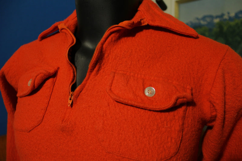 The Spinnaker Shirt Mitin Mothproofed All Virgin Wool Vintage Red 60s Long Sleeve
