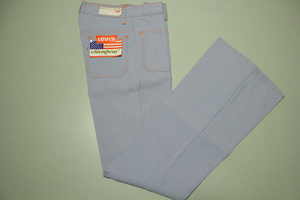 Levis Chambray Big E Vintage 60's Bell Bottom NWT Deadstock Pants