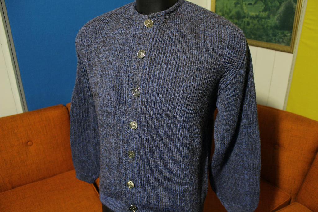 Seattle Knitting Mills Penguin All Wool 40s 50s Spectemur Agendo Cardigan Grunge