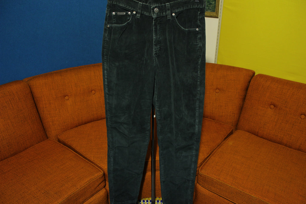 Lee Riveted Green Vintage Women's Corduroy Jeans Made in USA 80's Pants.