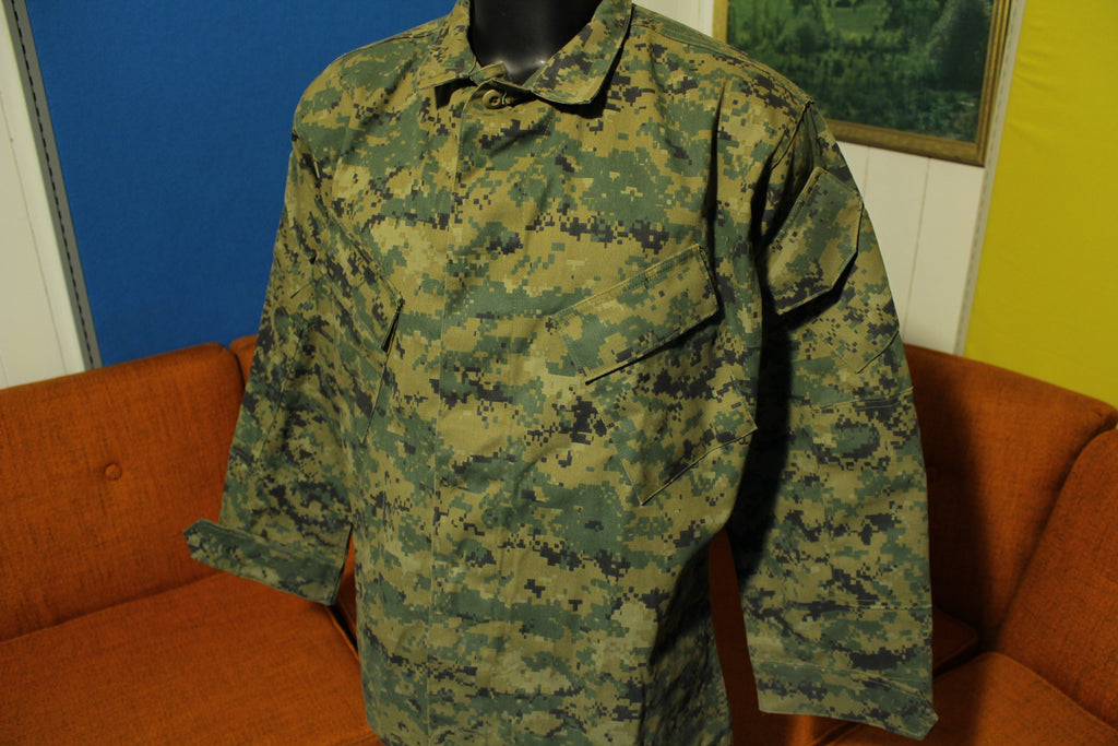 Tru Spec Extreme Tactical Response Uniform Shirt Jacket Mens Size XL Camo
