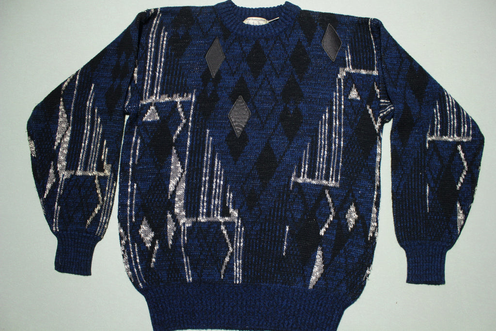 Mister Man Vintage 100% Acrylic Knit Pullover Warm 80s Fireside Sweater