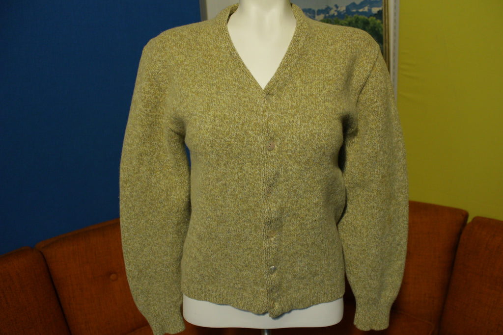 Pendleton 50's Tan Cardigan Sweater Button Up Wool Vintage Grunge Women's Top