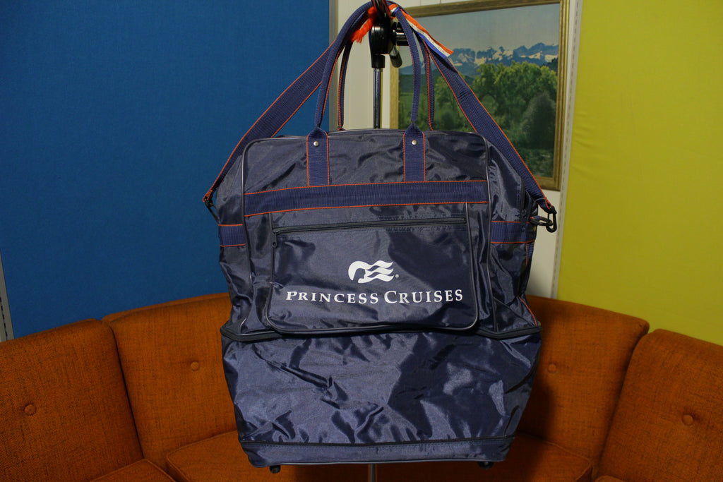 Princess Cruises Vintage 80's Expandable Duffle Bag Rolling Luggage Suitcase RARE!!