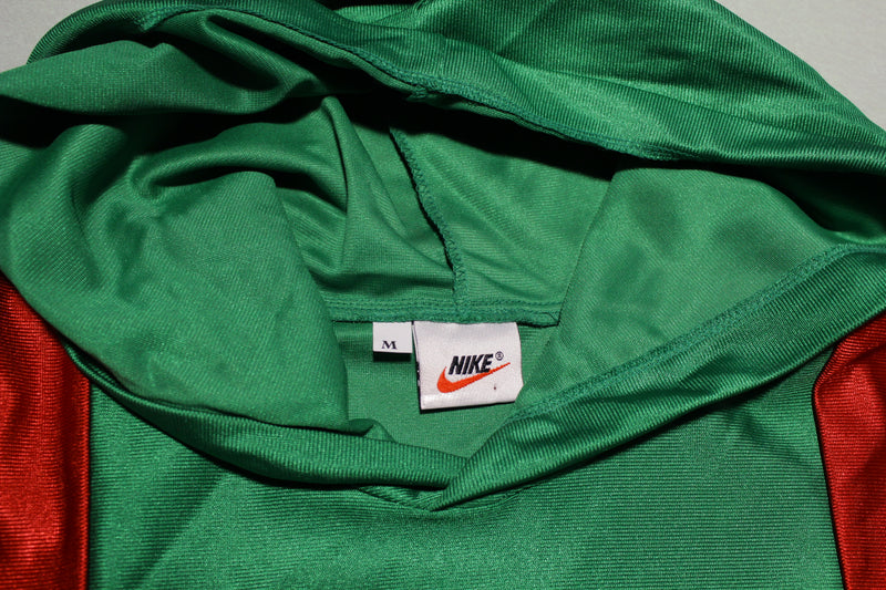 Nike Vintage 90s Therma Fit Polyester Short Sleeve Soccer Hoodie Jersey Shirt