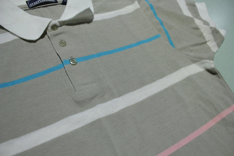 Steeplechase Polo Striped 1980s Vintage Shirt
