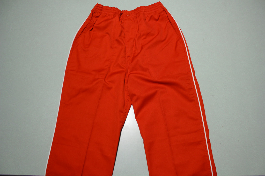 Jeff Martin Red Striped Vintage 80s Track Pants