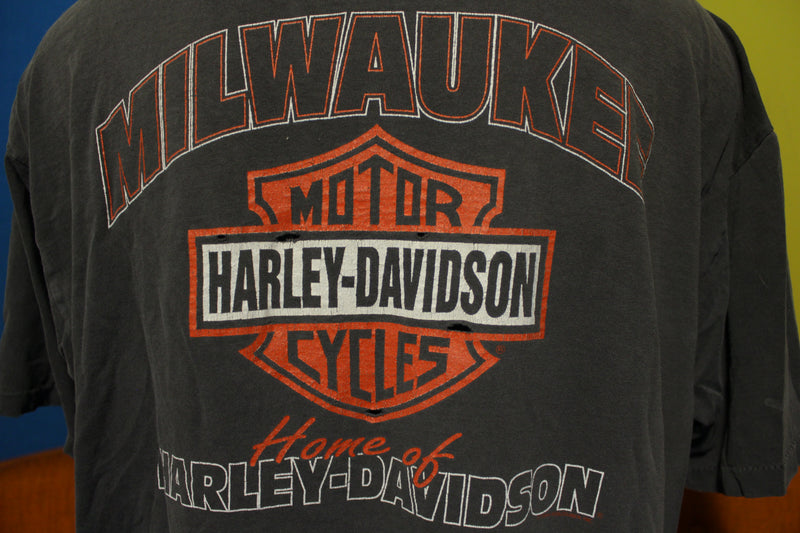 Harley Davidson Distressed 80s T-Shirt American Legend Eagle Milwaukee USA