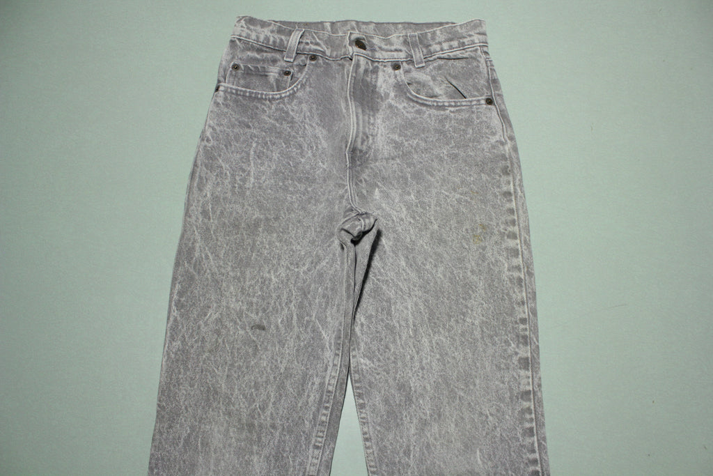 Levis Student 7505-0261 Vintage Gray Acid Washed 80s Denim Jeans 505 Made in USA