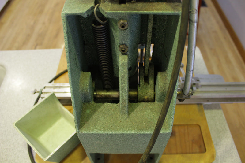 "Challenge JO Century Paper Drill Press Machine Table Top w/ Bits Stops 1/4"" 3/8"""