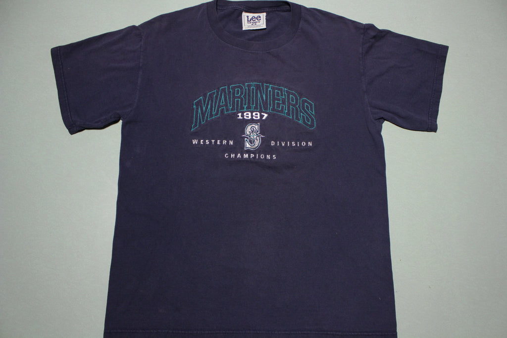 Seattle Mariners Vintage 1997Western Division Champions Lee Sport 90s T-Shirt