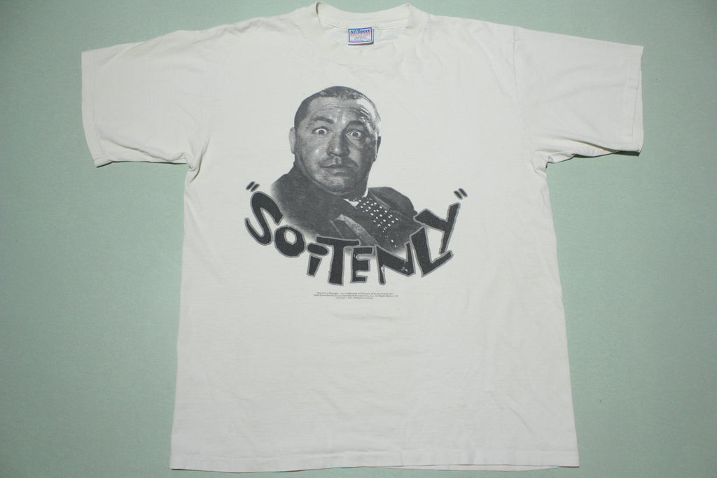 Curly Howard Vintage 90s Three Stooges Soitenly 1996 Movie Promo T-Shirt