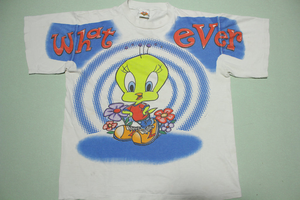 Tweety Bird Whatever Vintage  90s Warner Bros 1997 Made in USA T-Shirt