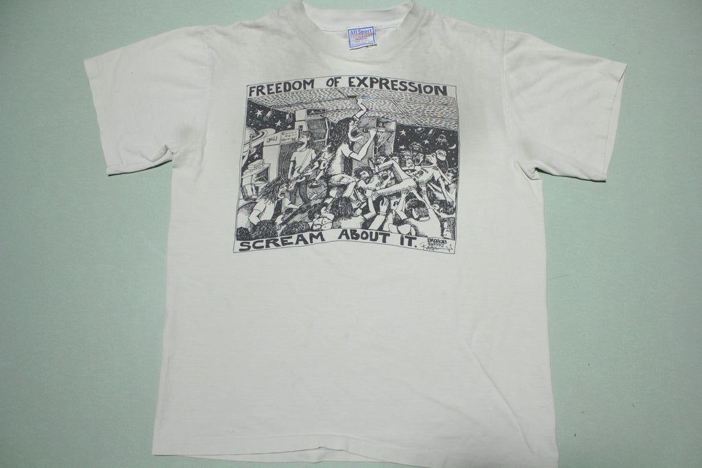 BadBob Vintage Concert 1992 Freedom Of Expression Punk Grunge 90s T-Shirt