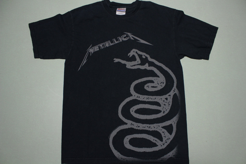 Metallica 2006 Black Album Snake Graphic Hanes T-Shirt