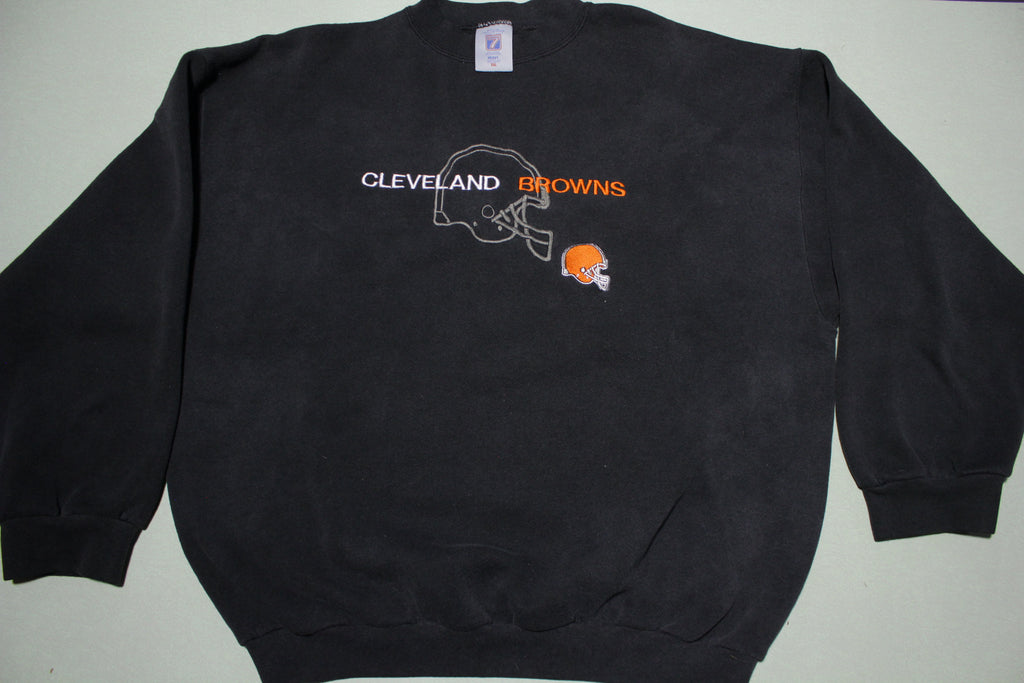 Cleveland Browns Logo 7 Vintage 90s Made in USA Crewneck Sweatshirt