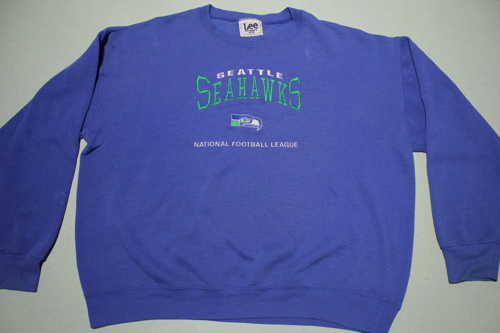 Seattle Seahawks Vintage 90s Lee Sport Made in USA Crewneck Sweatshirt