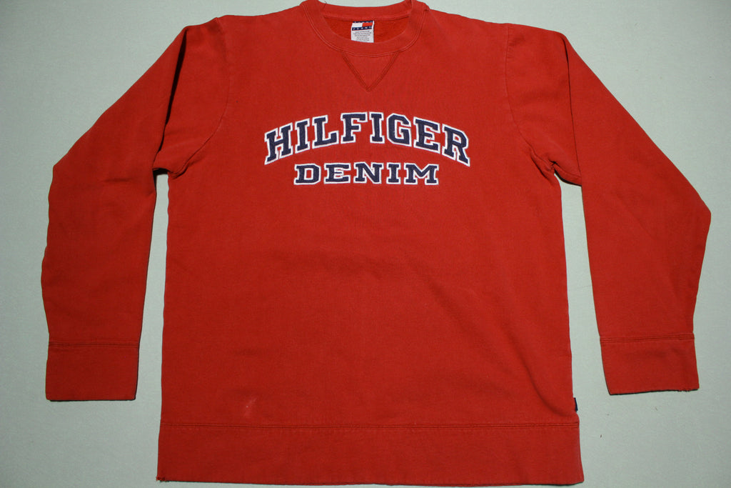 Tommy Hilfiger Denim Vintage 90's Embroidered Crewneck Sweatshirt.
