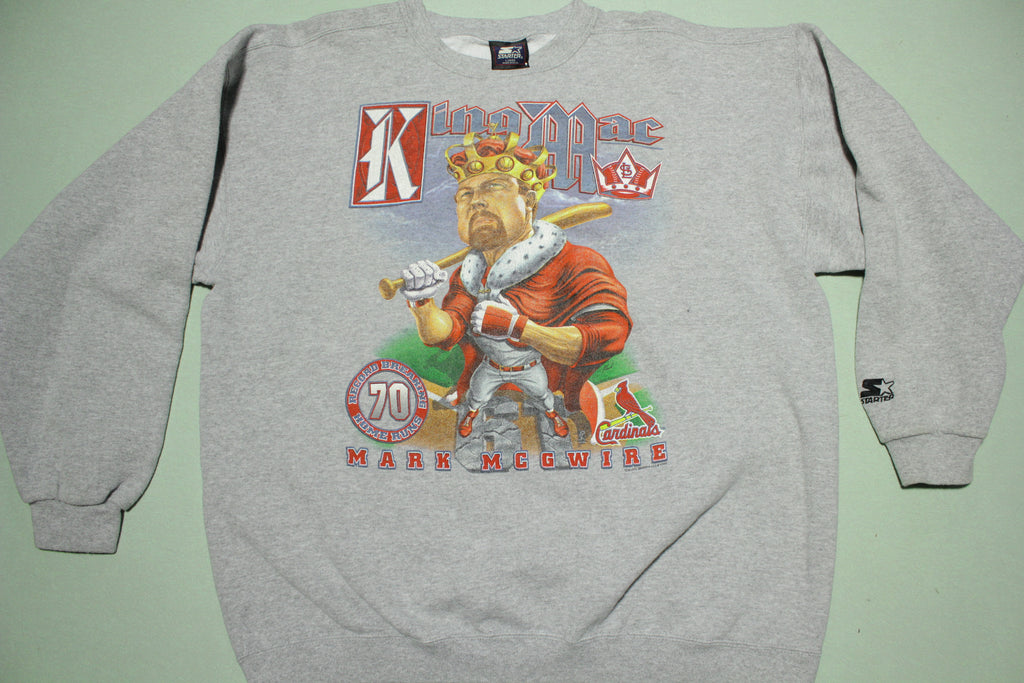 Mark McGwire Vintage King Mac 70 HR 1998 90's Crewneck Starter USA Sweatshirt