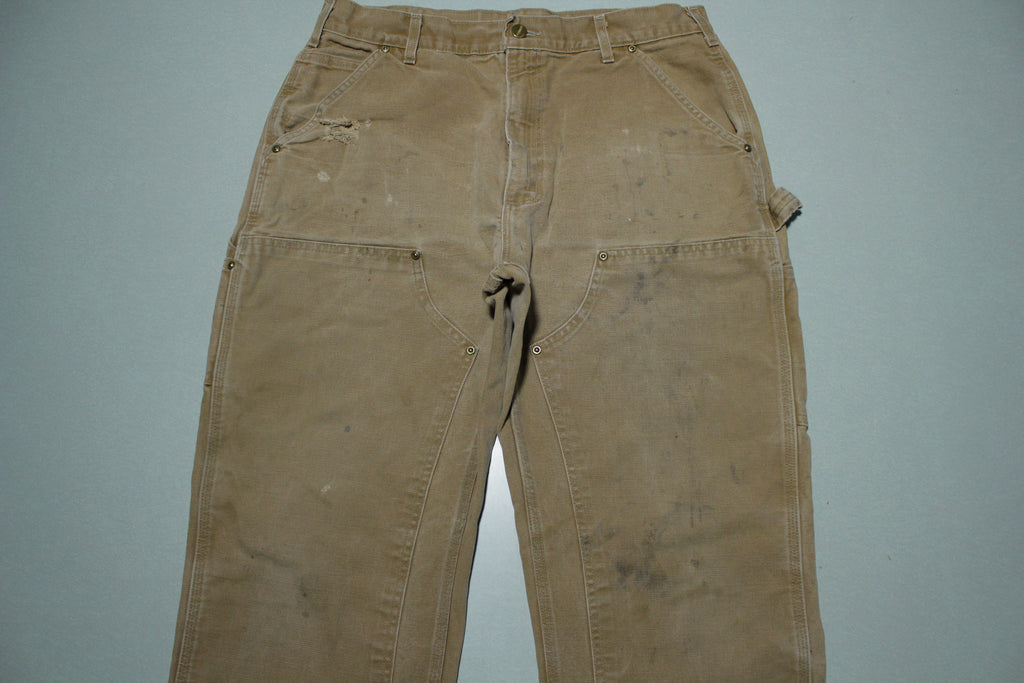 Carhartt Vintage Distressed B01 Double Knee Front Work Construction Utility Pants