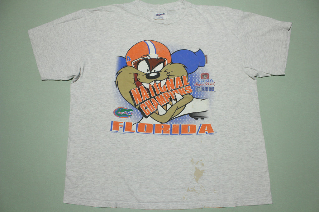 TAZ Florida Gators National Champs Vintage Looney Tunes 1997 90s Cartoon T-Shirt