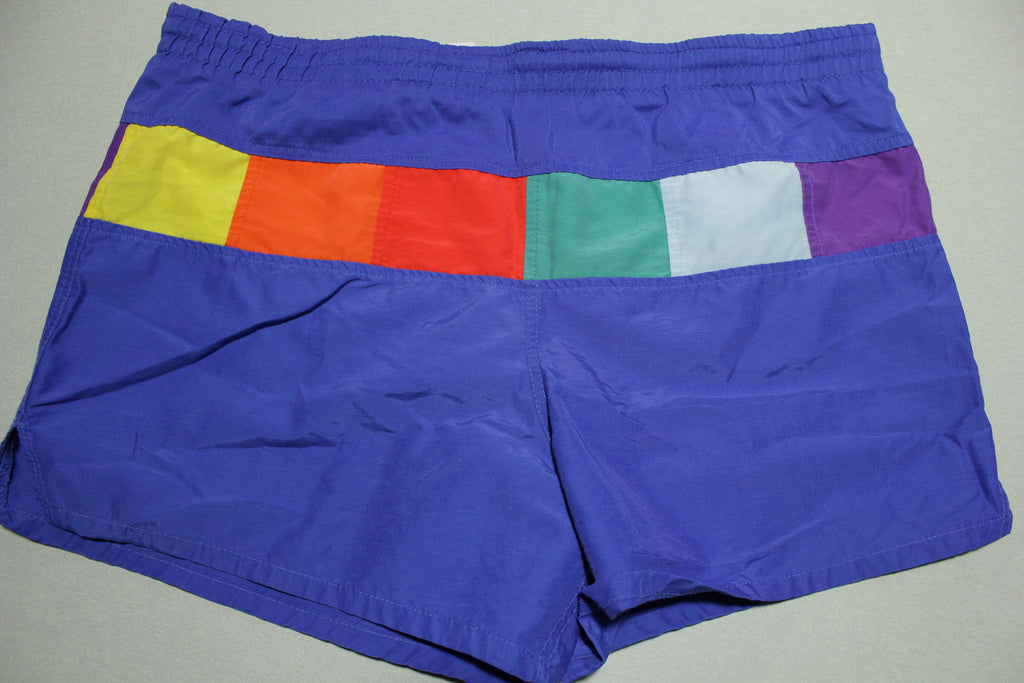 Golden Team Vintage 80's Multi Color Summer Shorts
