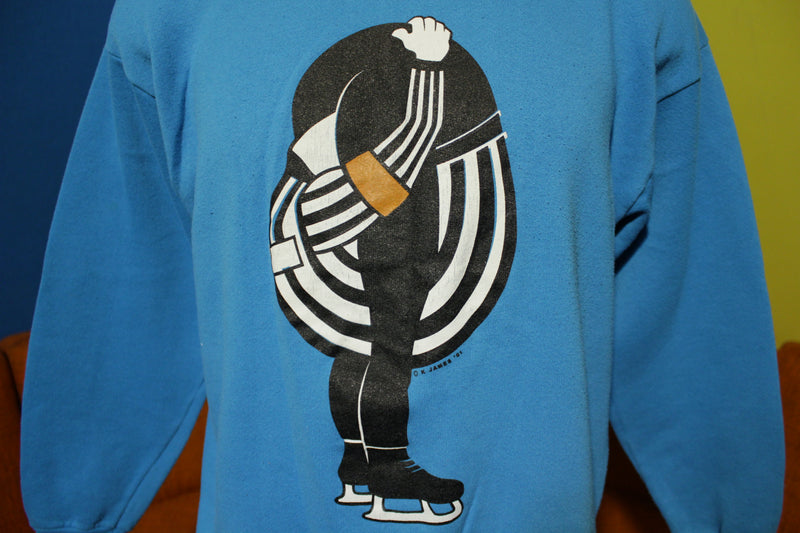 Get Your Head Out of Your Ass REF!! Classic 1991 90s Vtg Hockey Sweatshirt USA