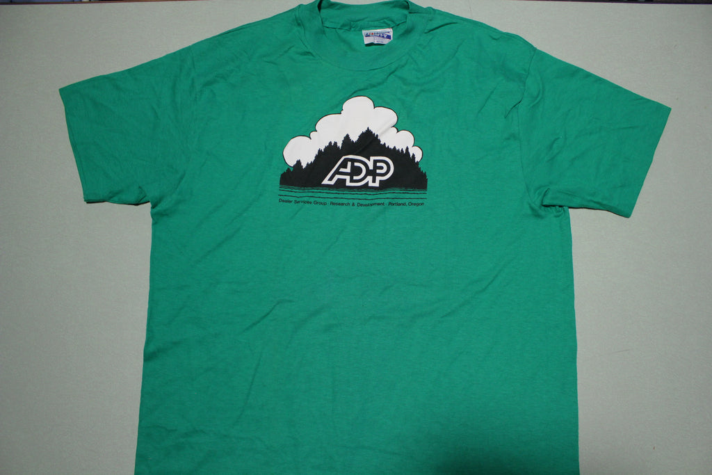 ADP Dealer Services Group Vintage Portland Oregon Hanes Single Stitch USA T-Shirt