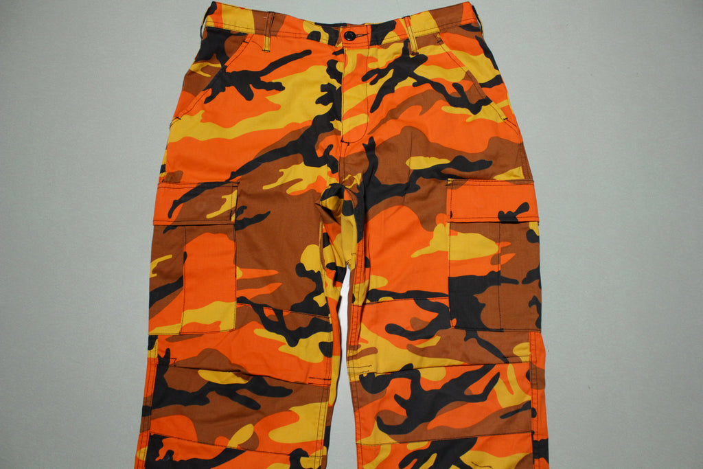Rothco Camouflage Digital 6-Pocket Military Tactical BDU Cargo Orange Fatigue Pants