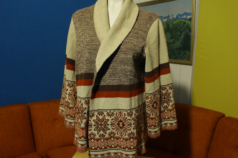 The Fashion Place Sears Roebuck Women's Vintage 70's Cowl Neck Sweater Cream