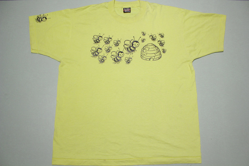 Beehive Honey Bees Vintage Single Stitch Made in USA 90's T-shirt