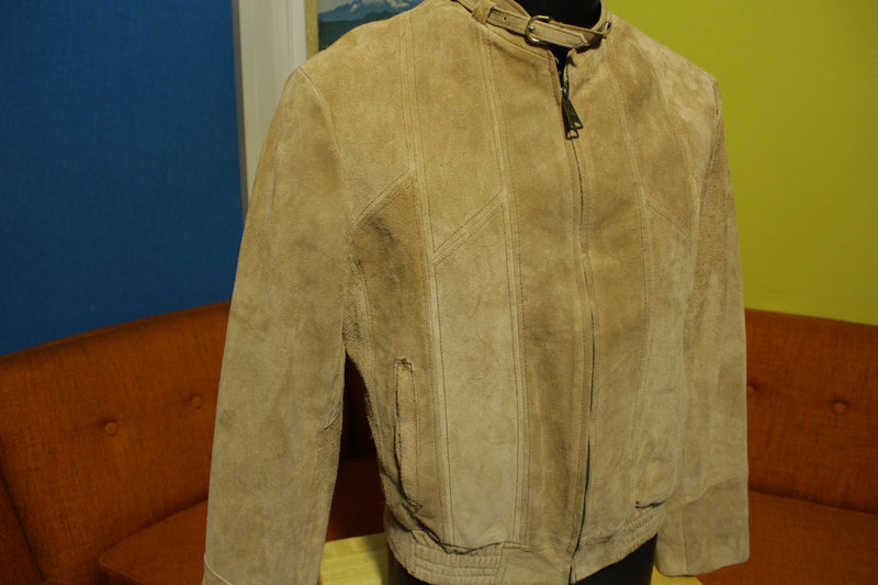 Genuine Leather Hecho En Mexico Vintage 70's Bomber Jacket Suede Coat