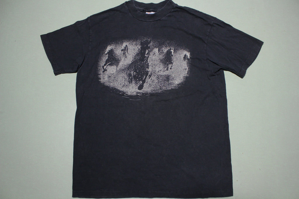 Parker Ranch Kamuela Hawaii Vintage Wild Running Horse Single Stitch T-Shirt