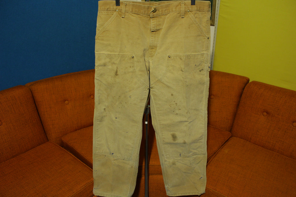 Carhartt 62W Vintage BRN Washed Duck Work Pants USA Union Made 36x29