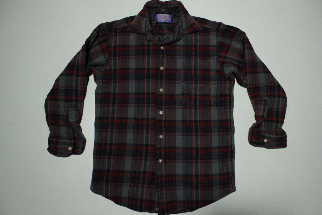 Pendleton 70s Vintage Plaid Wool Made in USA Lodge Flannel Shirt
